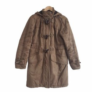 Spiewak & Sons toggle coat green brown large